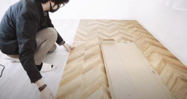 フロアタイルで床を一新!簡単DIY。賃貸の方でも可能