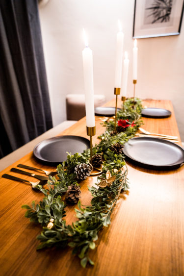 インテリアコーディネーターの自宅のクリスマステーブルコーディネート