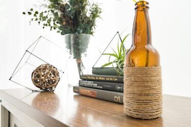【百均DIY】空き瓶を簡単リメイクしておしゃれインテリア雑貨を作る方法