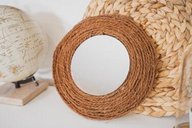 【DIYインテリア雑貨】漬物樽の蓋をおしゃれな壁掛けミラーに/ウォールミラー