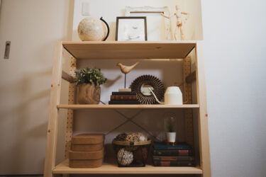 インテリアコーディネーターが意識している雑貨飾りのコツ。シェルフ(オープン棚)デコレーション
