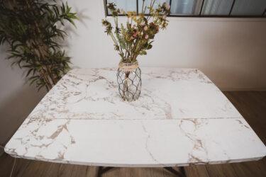 【DIY】テーブルに輸入壁紙を貼ってリメイクしてみたらすごかった!インテリア
